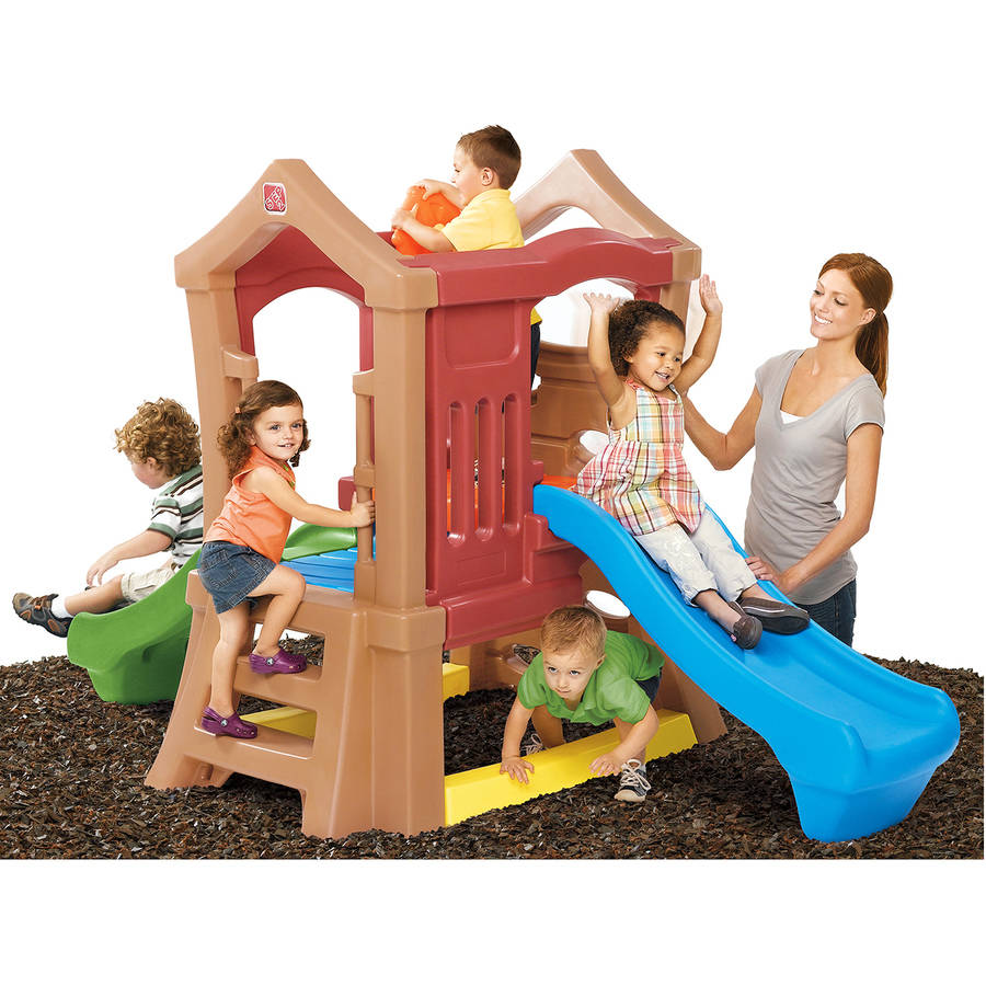 Step2 Play Up Double Slide Climber Playset with Two Slides by The Step2 Company