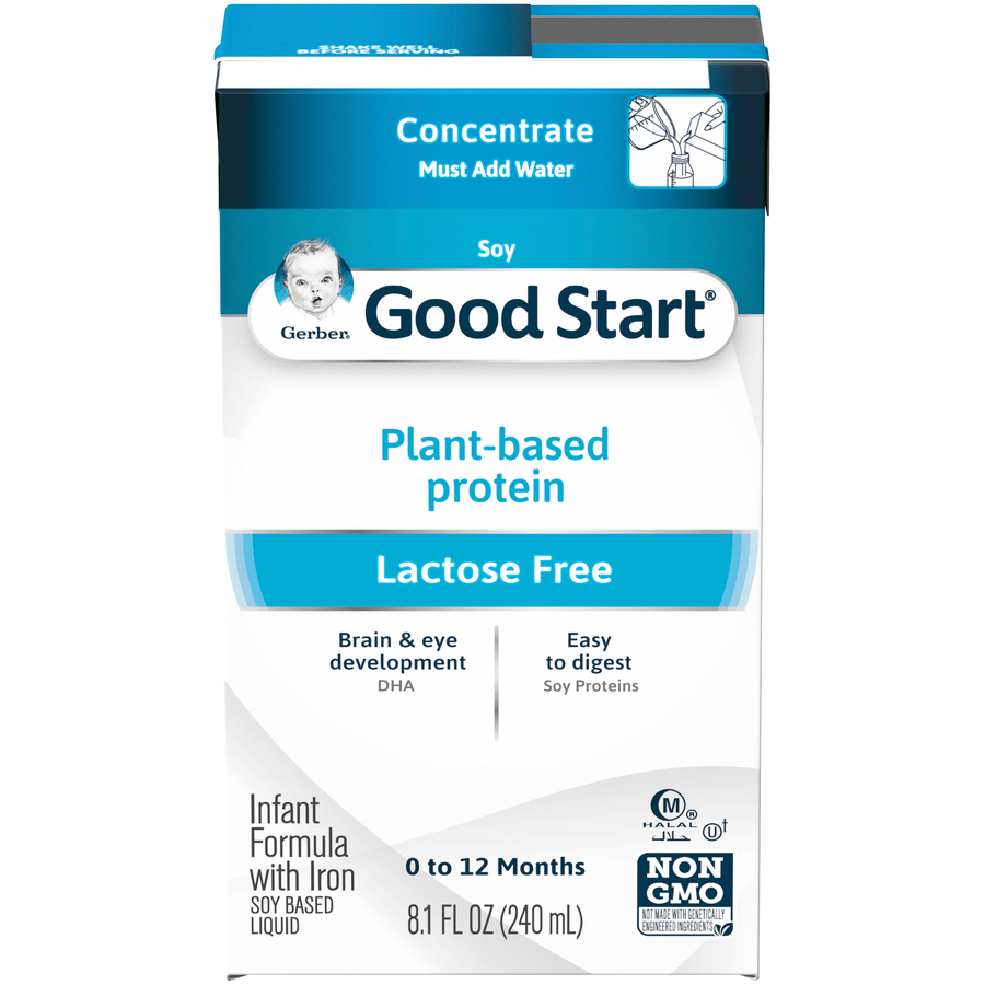 Gerber Good Start Soy Non-GMO Ready to Feed Infant Formula, 8.1 fl oz Container (Pack of 18)