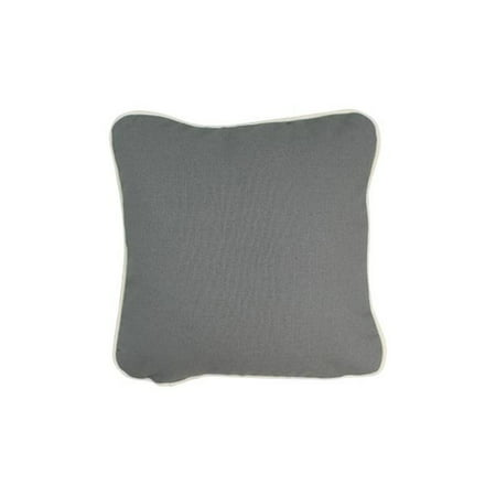 Pillow with Green Eco Friendly Insert, Gray - 12 x 12 ()