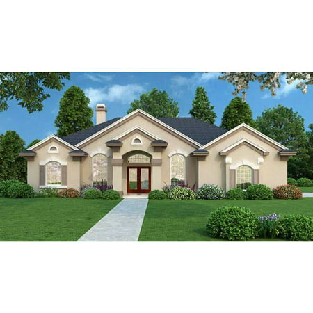 Thehousedesigners 3994 Contemporary House Plan With Slab Foundation  5 Printed Sets
