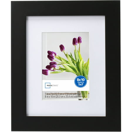 Mainstays Matted Picture Frame Black Walmart