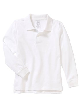6d400e0b Product Image Faded Glory Boys' Cotton Long Sleeve Solid Polo