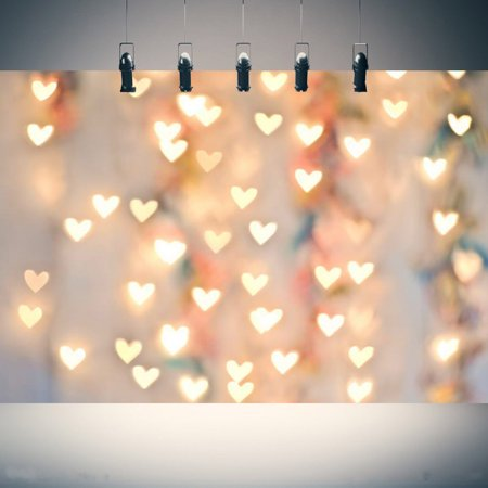 5X7FT Love Heart Light Photography Christmas Backdrop Background Photo Studio Props Valentine's Day](Christmas Props Photography)