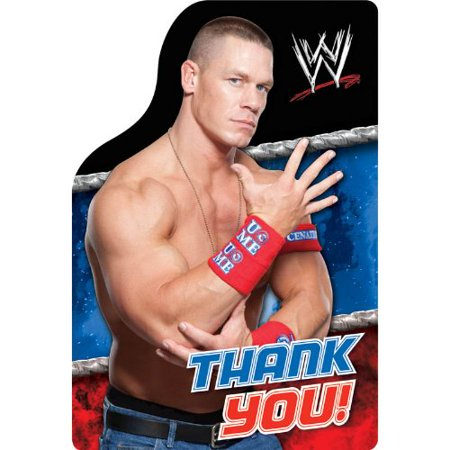 WWE Wrestling Thank You Notes w/ Envelopes (8ct)