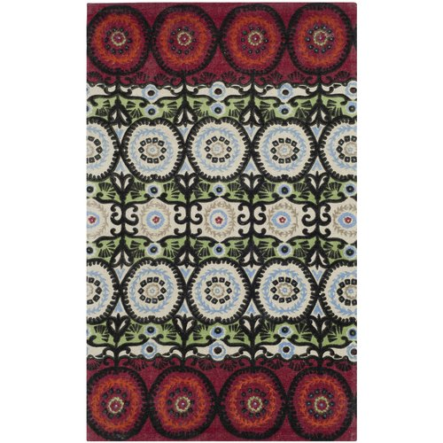Bungalow Rose Allison Ivory & Multi Colored Area Rug