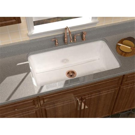 SONG S-8610-5U-70 Undercounter Singl Bowl Sink in White with 5 Faucet Holes
