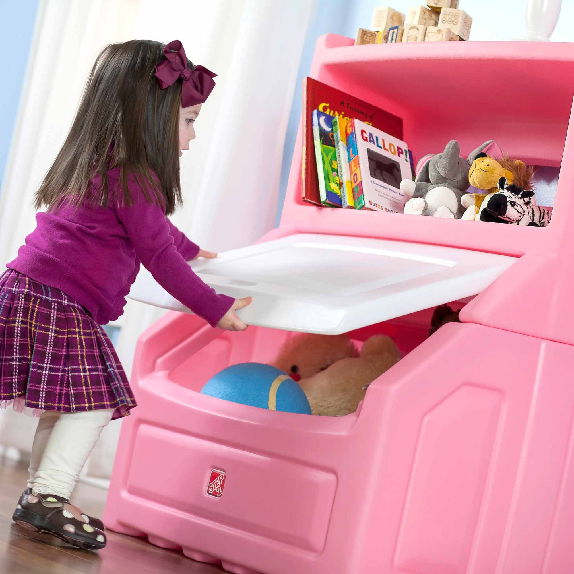 Step2 Lift And Hide 38 H Bookcase Kids Storage Bin And Toy