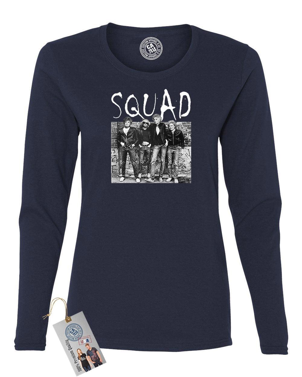 Golden Girls Squad Gang TV Show Womens Long Sleeve Shirt