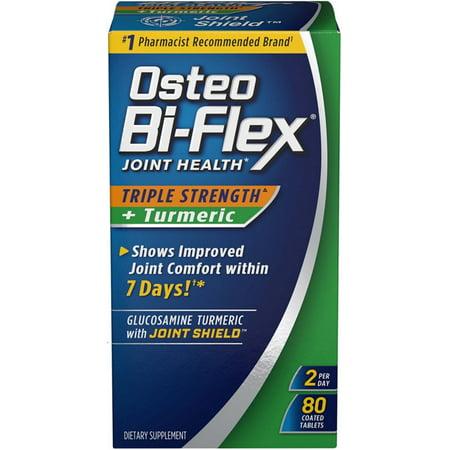 2 Pack - Osteo Bi-Flex Joint Health Triple Strength + Turmeric Tablets 80 ea