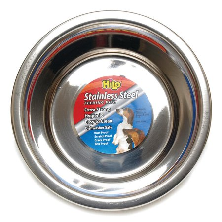 DISH PET STAINLESS STEEL SMALL 1QT