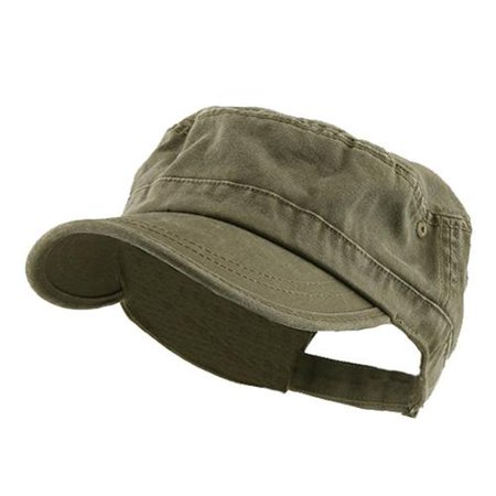 Enzyme Frayed Army Caps - Enzyme Regular Army Cap Adjustable Strap , Dark Olive