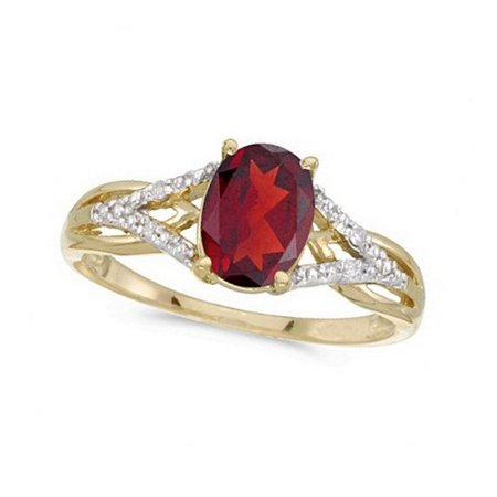 Oval Ruby and Diamond Cocktail Ring in 14K Yellow Gold (1.52 ctw) Oval Gemstone Cocktail Ring