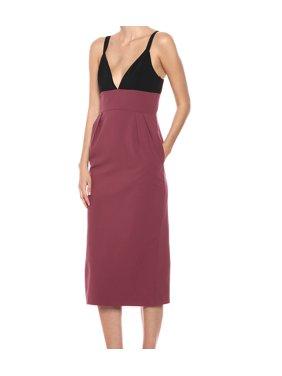 JILL Jill Stuart Womens Sleeveless Mid-Calf Midi Dress