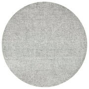 Rizzy Home BR351A Gray 8' Round Hand-Tufted Area Rug