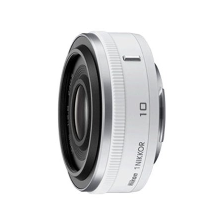 ca5e7e9e9fb Nikon 1 Nikkor 10mm f/2.8 Lens - White - Walmart.com