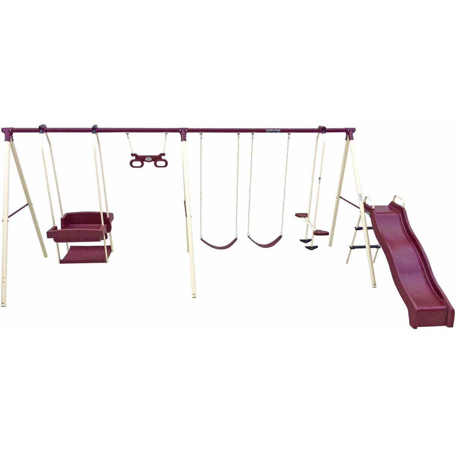 Flexible Flyer Play Park Metal Swing Set   Walmart.com