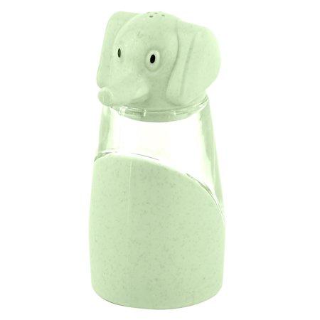 Kitchen Plastic Elephant Designed Salt Pepper Spices Condiment Container Green
