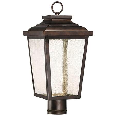 Rustic Bronze Outdoor Post Mount - Irvington Manor LED Chelesa Bronze 9-Inch LED Outdoor LED Post Mount