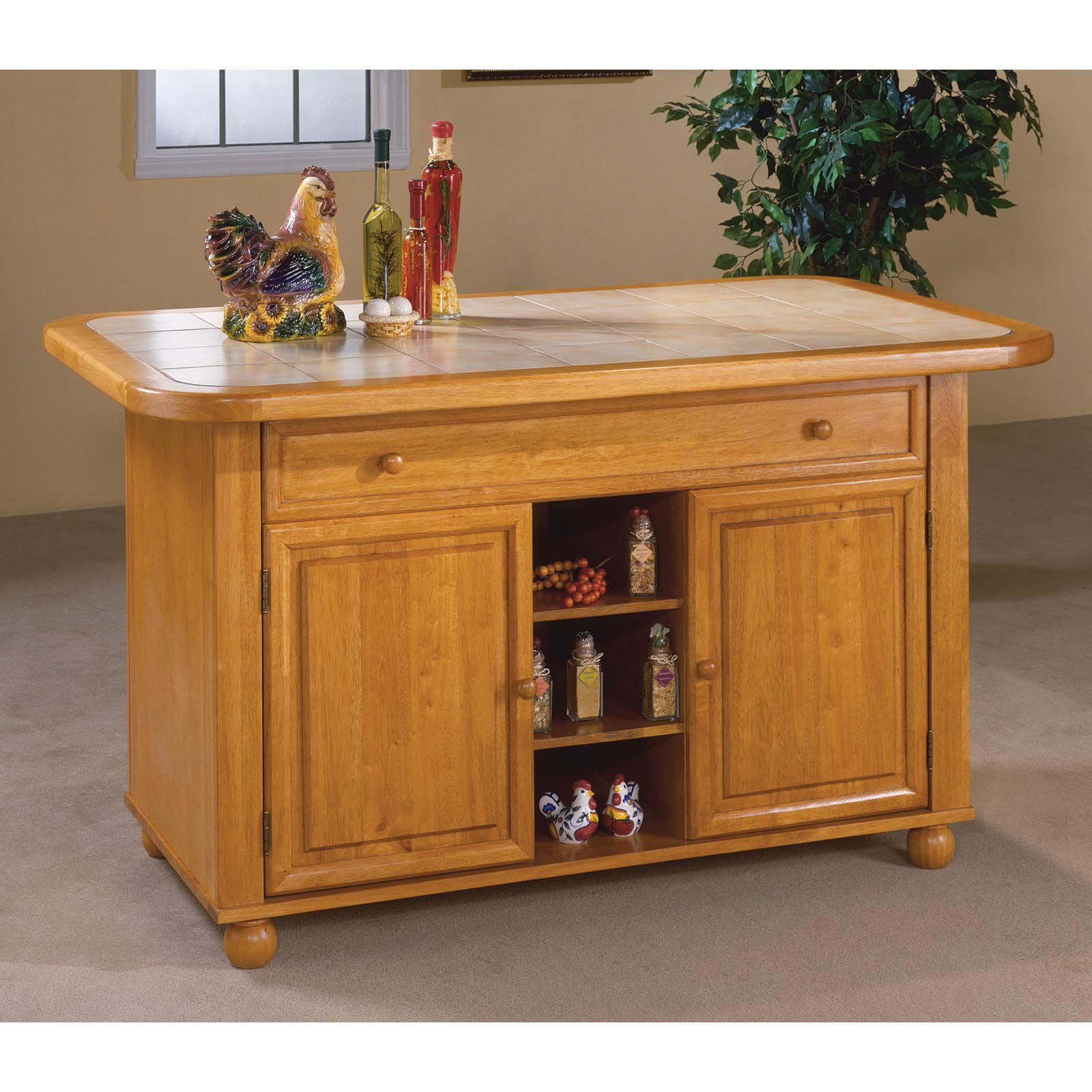 Uncategorized Sunset Trading Kitchen Island sunset trading julian kitchen island with sliding ceramic tile top walmart com