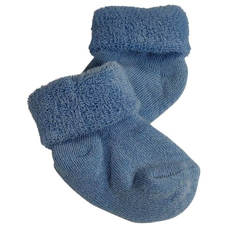 Tic Tac Toe - Baby Boys Cushion Bootie Sock Blue / 0 - 6 Months ()