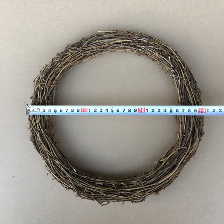 dried grapevine twig garland flower shop DIY door hanging floral wreath American country Christmas decoration bare circle dried flowers 30CM round ()