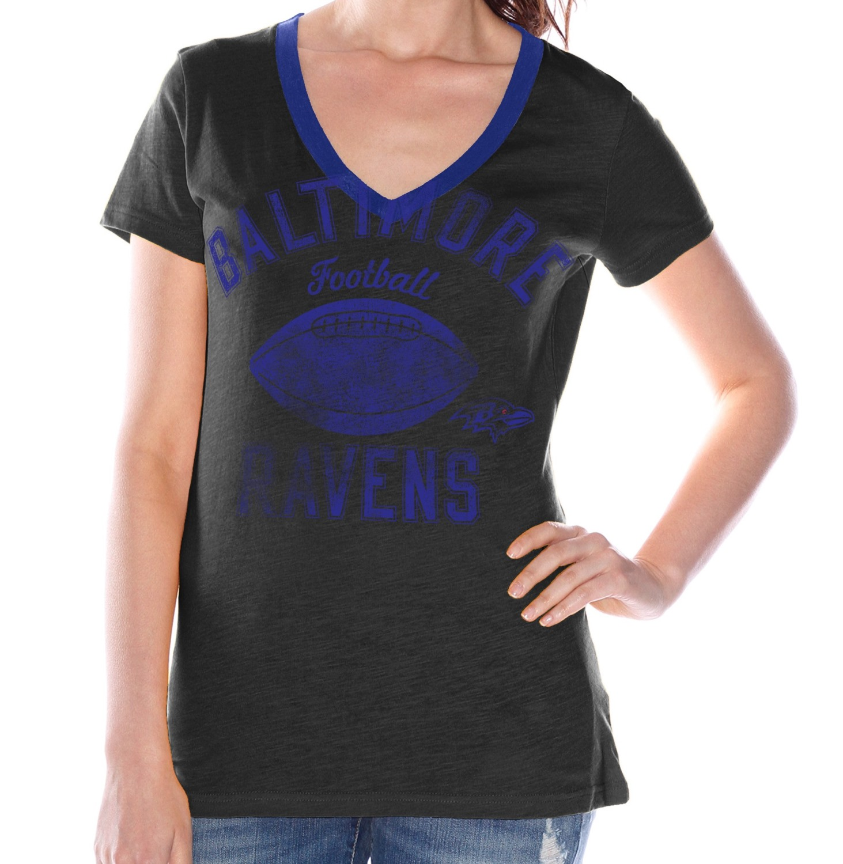 "Baltimore Ravens Women's G-III NFL ""Flea Flicker"" V-neck T-shirt"