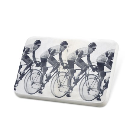 (Porcelein Pin Bicycle Race Lapel Badge – NEONBLOND)