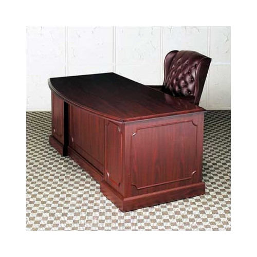 High Point Furniture Bedford Double Pedestal Bow Front Executive Desk