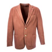 Pal Zileri Men's Wool Blend Two Button Blazer IT 52R Brick Red