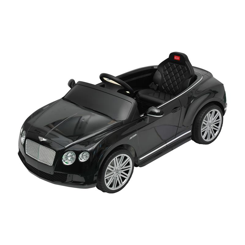 Bentley GTC Kids 6v Electric Ride on Toy Car w/ Parent Remote Control - Black