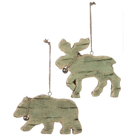 Jingle Moose (- Moose and Bear with Jingle Bell Ornaments, We help you make Everything PerfectlyFestive for the Holidays! By Sullivans from USA )