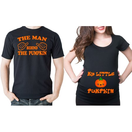 Halloween couple maternity pregnancy t-shirts Pumpkin maternity - Best Couple Ideas For Halloween