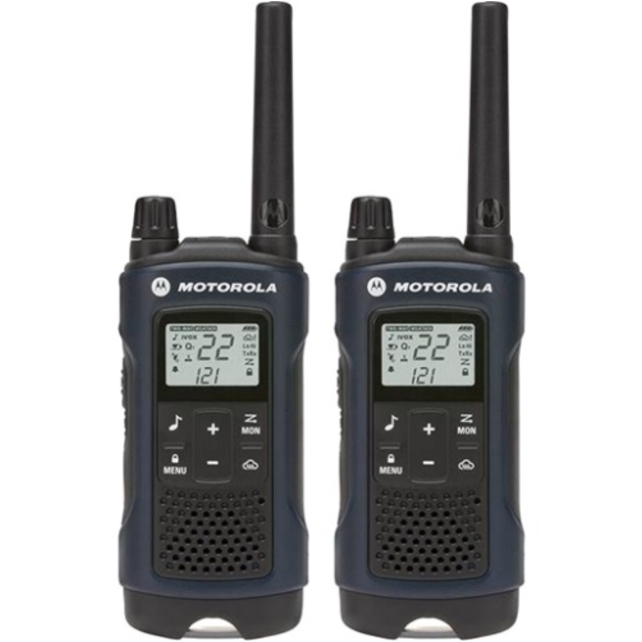 Motorola T460 Rechargeable 2-Way Radio, Dark Blue