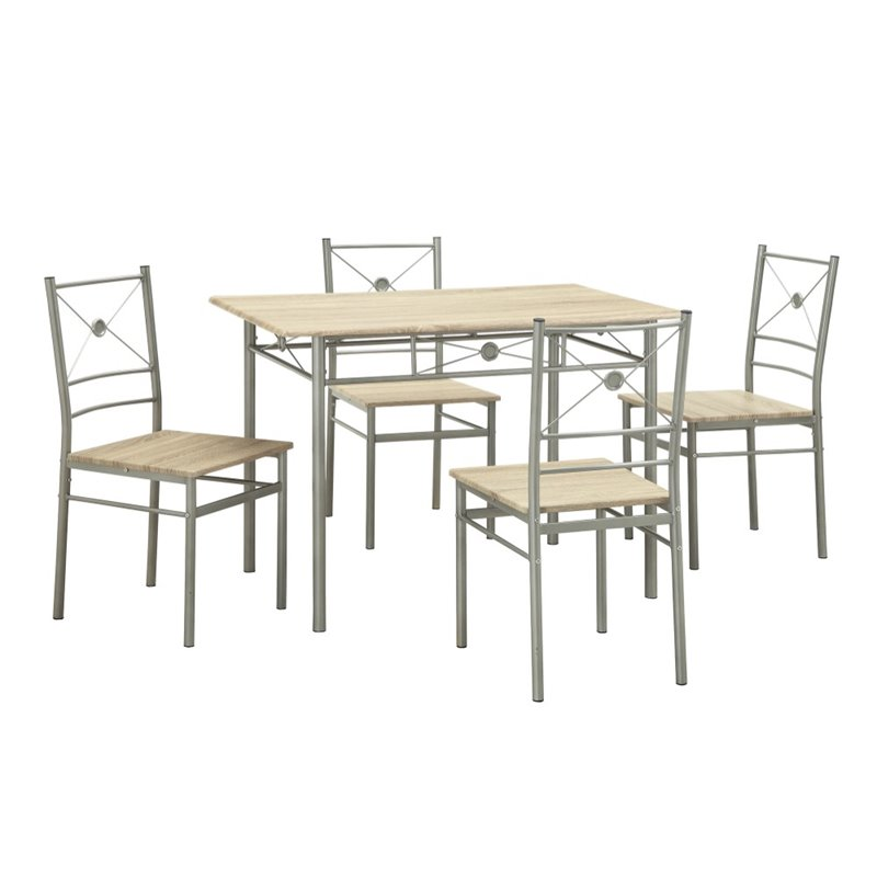 Kingfisher Lane 5 Piece Dining Set in Taupe