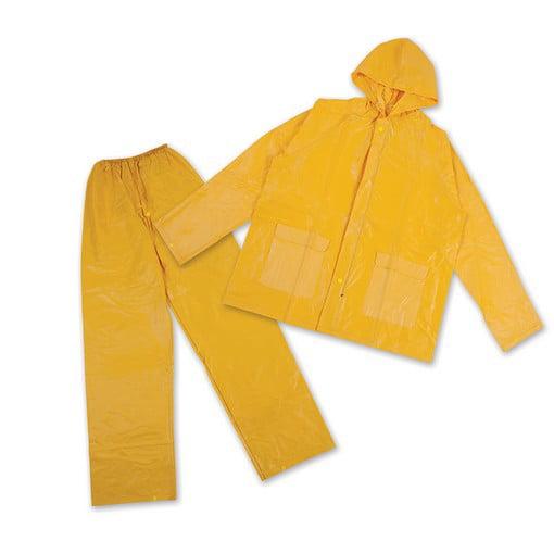 Stansport PVC Rainsuit - PVC Back - Green - 2XL