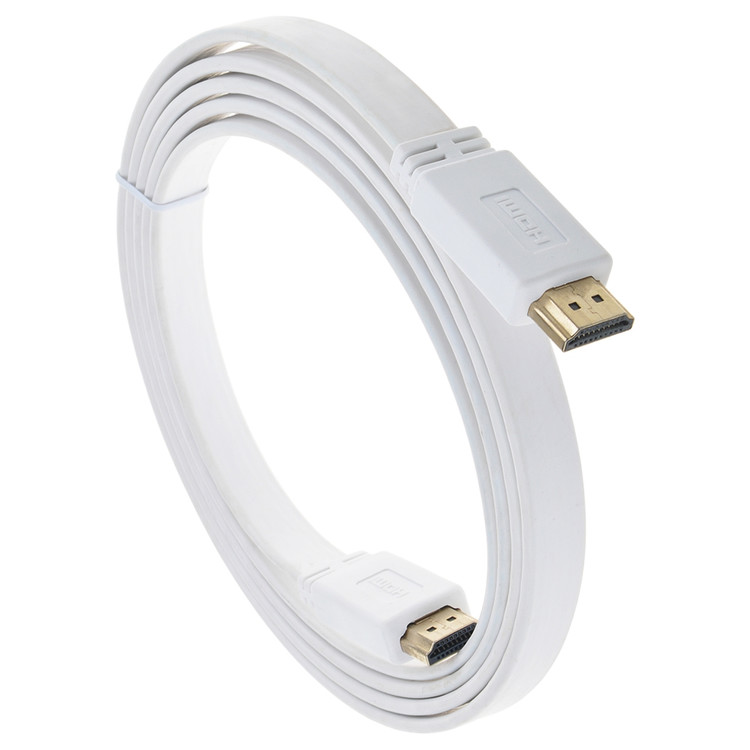 JerGO HDMI 2.0 Flat Wire Cable High Speed 4K Ultra HD 2160p Bandwidth up to 18Gbps 3D Fine Copper Connector 1.8m/6ft