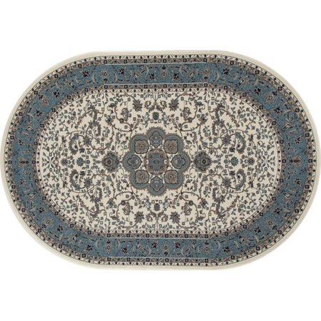 Woven Center (Traditional High Quality Center Medallion Woven Area Rug with Border, 069 )