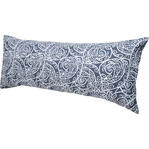 Hanes Easy Comfort Body Pillow with Removable Pillow Cover, Gray Print