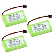 Insten (3 Pack) BT-1007 BT-1015 Extra Ni-Mh Cordless Phone Battery Power For Uniden BT-1007 BT-1015 900MHz phone EXI4560 BBTY0700001 DECT1560-3