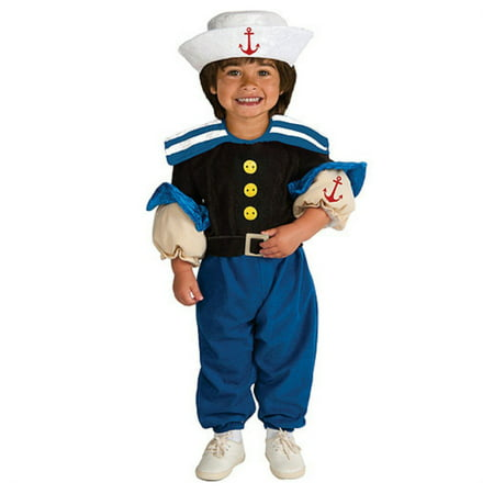 Rubies Toddler Boys Muscle Sailor Costume Popeye - Popeye Toddler Costume