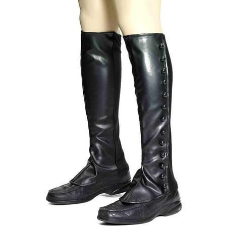 Steampunk Boot Spats - Black