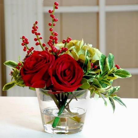 Jane seymour rose and hydrangea 14 in holiday silk flower jane seymour rose and hydrangea 14 in holiday silk flower arrangement mightylinksfo