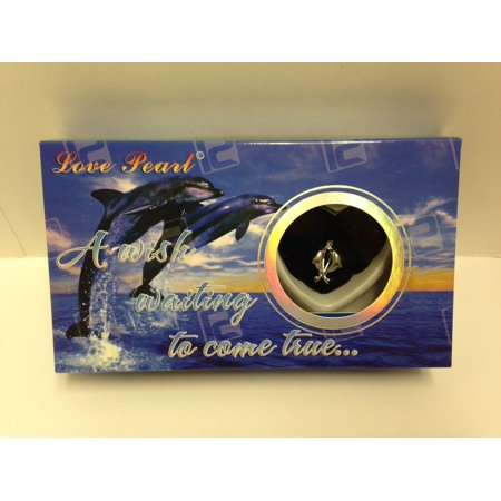 Make A Wish Necklace - Love Wish Purity Pearl Kit w/ Pendant Necklace Gift Box; Dolphin