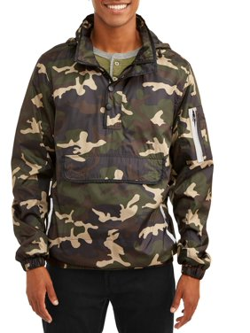 de40cf1e8622 Product Image Men s 1 4 Zip Lightweight Camo Print Front Pouch Jacket With  Reflective Trim