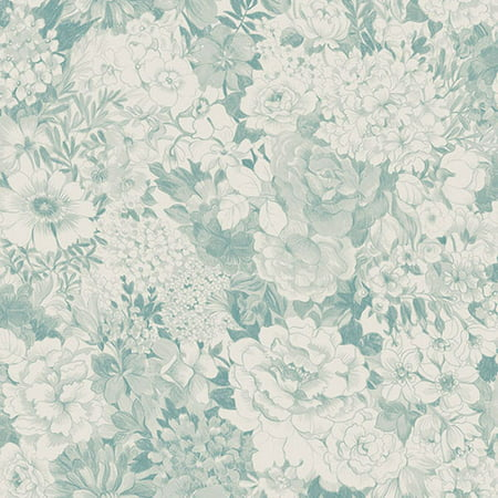 Beacon House Kita Turquoise Song Garden Wallpaper