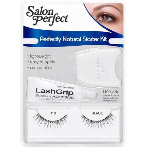 Salon Perfect Perfectly Natural Lash Starter Kit, 110 Black, 3 pc