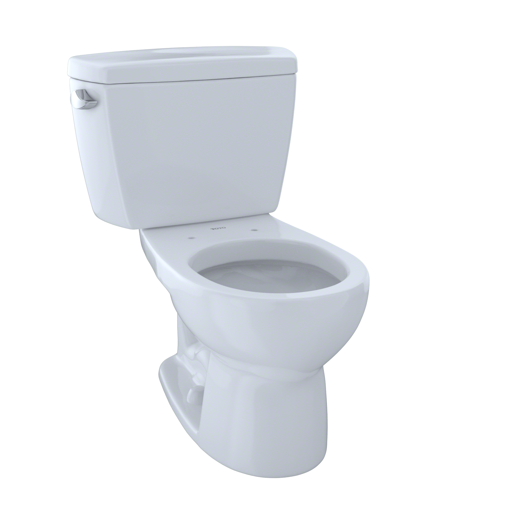 TOTO® Eco Drake® Two-Piece Round 1.28 GPF Toilet, Cotton White - CST743E#01