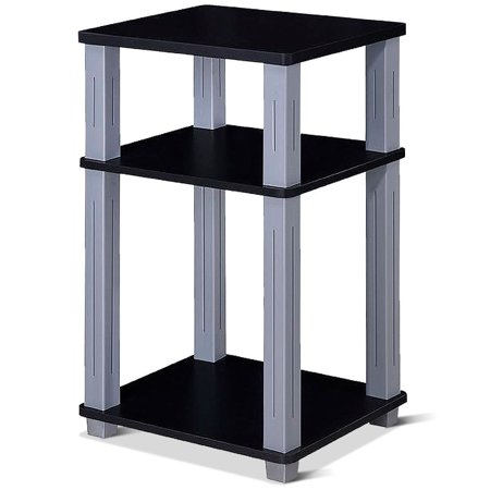 3 Tier Display Tables (Costway 3 Tier End Table Storage Multipurpose Shelf Night Stand Display Shelving Black )