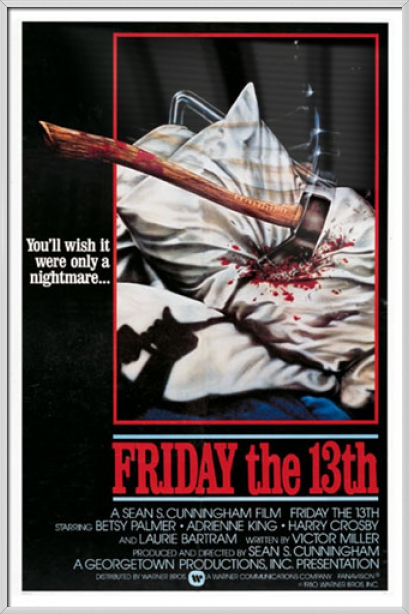 "Friday The 13th Movie Poster   Print (Regular Style) (Size: 27"" x 40"") by"