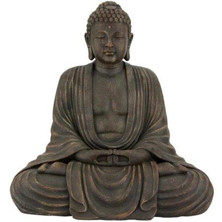 ORIENTAL FURNITURE Japanese 2.5-foot Tall Sitting Buddha Statue (China)